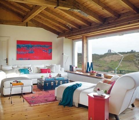 Una casa rural de estilo rústico y muy colorida-02