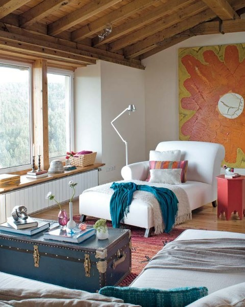 Una casa rural de estilo rústico y muy colorida-03