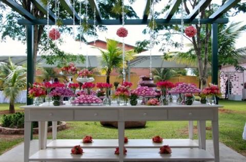 Una tarde de t en rosa for Decoracion jardin fiesta cumpleanos