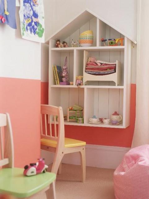 Una habitaci n para ni as dise ada para jugar - Muebles para cuarto de nina ...