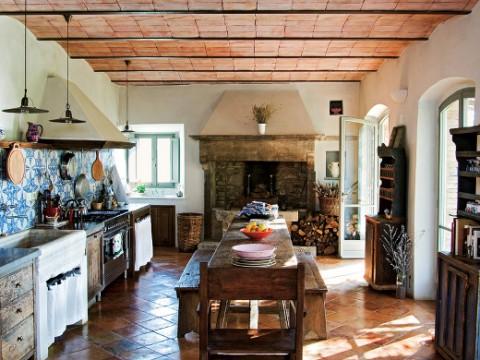 El estilo rústico en una residencia italiana-05