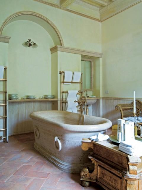 El estilo rústico en una residencia italiana-06
