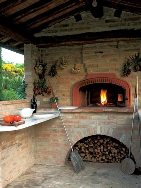El estilo rústico en una residencia italiana-08