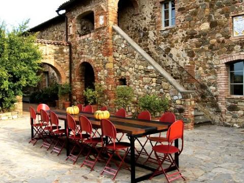 El estilo rústico en una residencia italiana-09