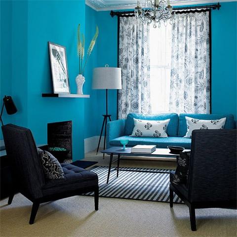Introduce la energ a del color en los interiores turquesa for Pintura interior turquesa