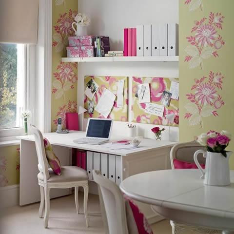 Oficinas en el hogar_ ideas muy femeninas para ellas-10