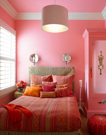 Rojo rosa y lila en las habitaciones for Recamaras rosas