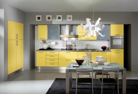 ideas de cocinas en amarillo propuesta