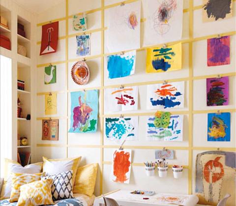 Ideas para decorar con los dibujos de tus hijos - Foto 1