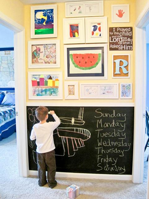 Ideas para decorar con los dibujos de tus hijos - Foto 2