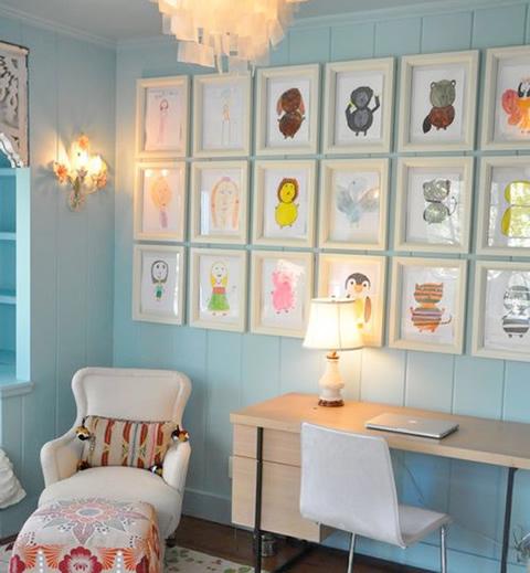 Ideas para decorar con los dibujos de tus hijos - Foto 4