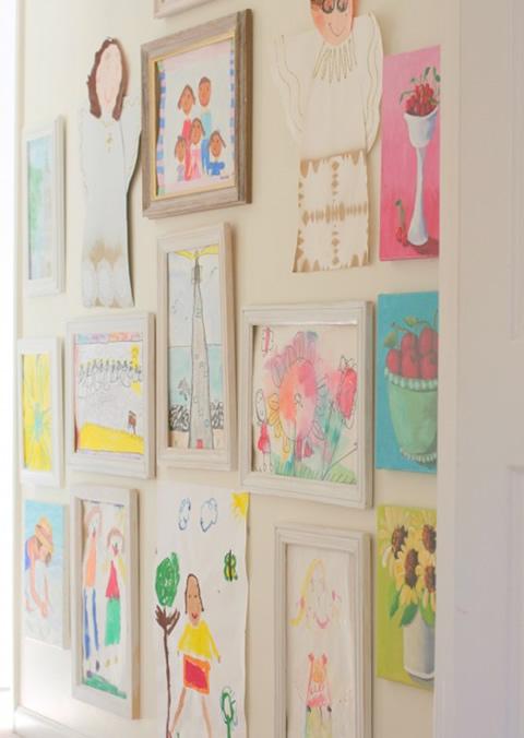 Ideas para decorar con los dibujos de tus hijos - Foto 5