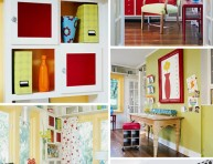 imagen Una oficina en casa llena de color