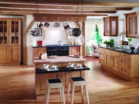Barras e islas para la cocina - Cocinas rusticas de madera ...