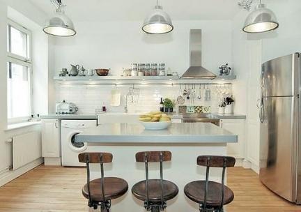 Barras e islas para la cocina - Luces para cocina ...