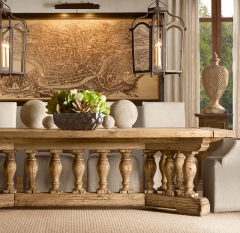 Mesas rústicas de madera - Opcion 04