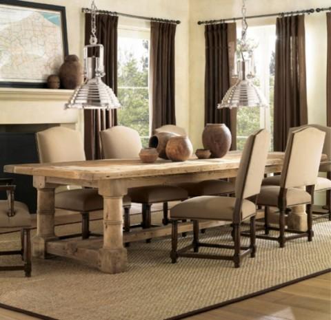 Mesas rústicas de madera - Opcion 06