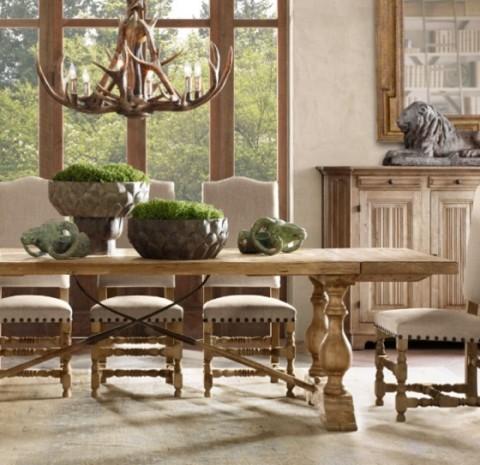 Mesas rústicas de madera - Opcion 07