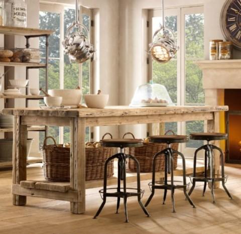 Mesas rústicas de madera - Opcion 08