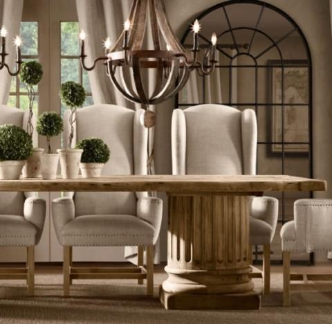 Mesas rústicas de madera - Opcion 09