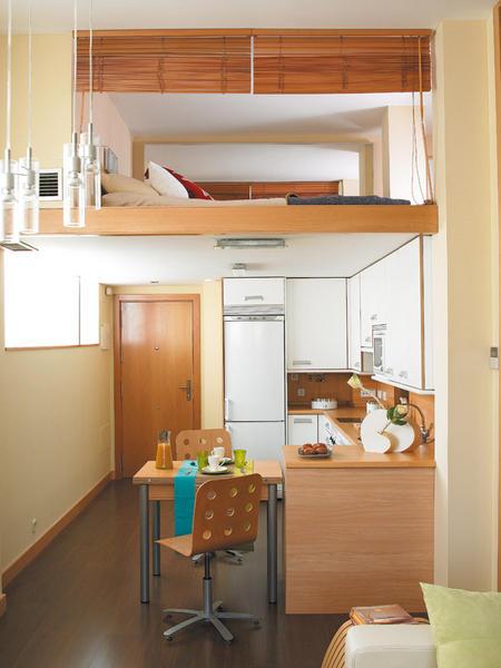 Un peque o piso de 40 m2 aprovechado for Decorar casa 45 m2