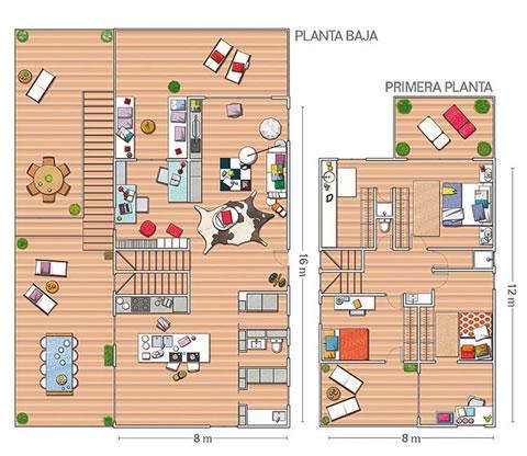 Renovada casa de campo - Plano de la Casa