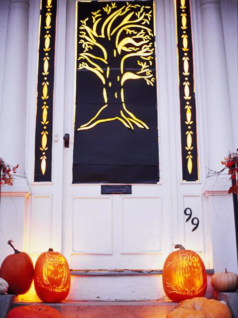 Ideas para Halloween- decora tu puerta de entrada
