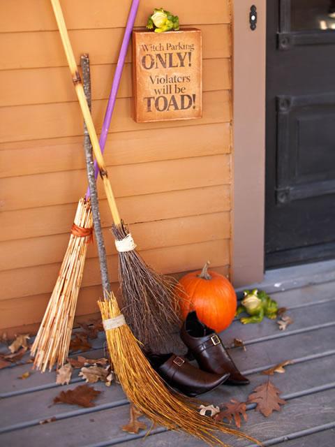 Ideas para Halloween - Estacionamiento para Brujas