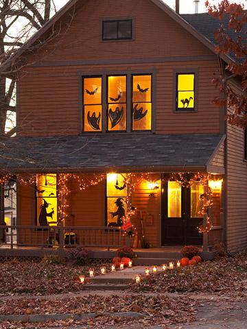 Ideas para Halloween Siluetas para Decorar tus Ventanas