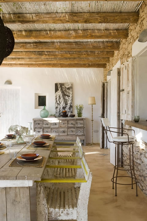R stica y campestre residencia for Decoracion rustica campestre