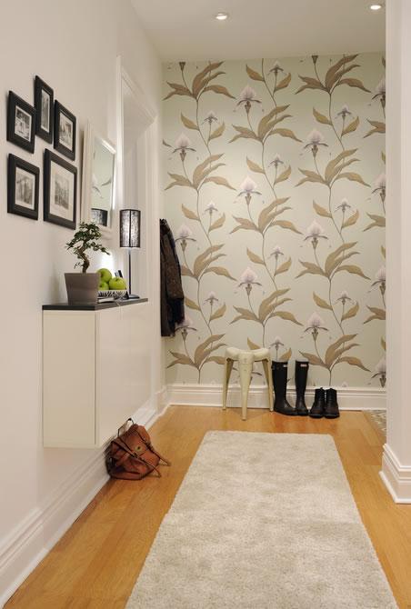 Recibidores 15 propuestas para la decoraci n - Papel pintado para recibidores ...