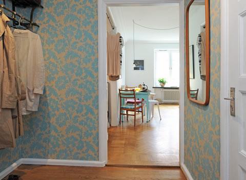 Recibidores 15 propuestas para la decoraci n - Empapelar muebles ...