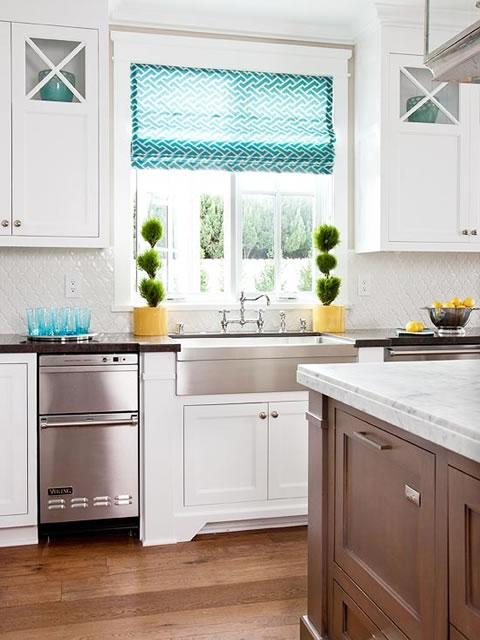 Una cocina y cientos de ideas para decorar - Ideas cortinas cocina ...