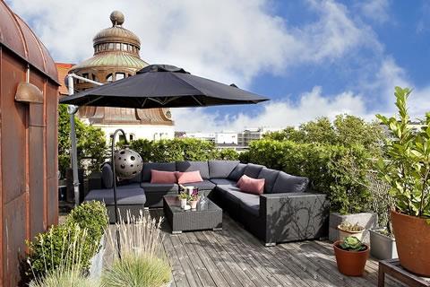Una terraza para disfrutar for Decoracion de la pared de la terraza