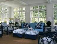 imagen Inspiración en color azul para tu sala