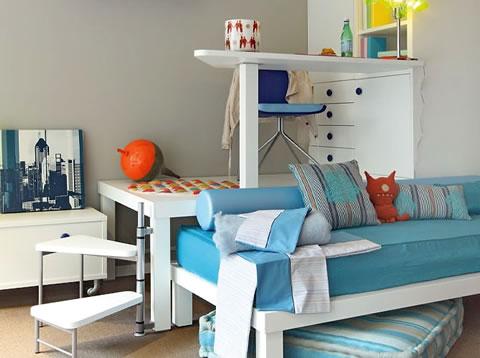 22 ideas de habitaciones para ni os y ni as for Ideas muebles para poco espacio