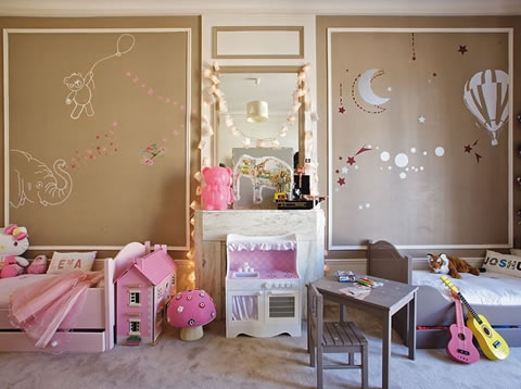 22 ideas de habitaciones para ni os y ni as for Habitaciones infantiles pinterest