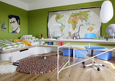 22 ideas de habitaciones para ni os y ni as for Cuartos de nina de 9 anos modernos
