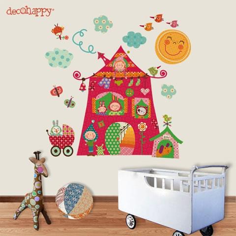 Divertidas pegatinas para las habitaciones de los peques for Pegatinas para decorar habitaciones