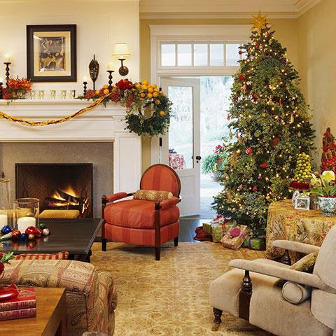 8 ideas para decorar en navidad tu living for Decoracion para living