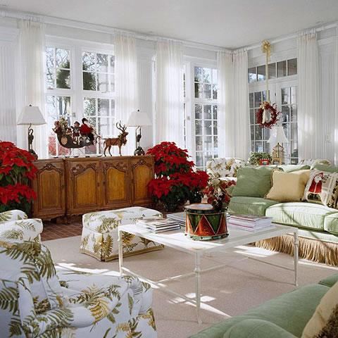 8 ideas para decorar en navidad tu living - Salones decorados para navidad ...