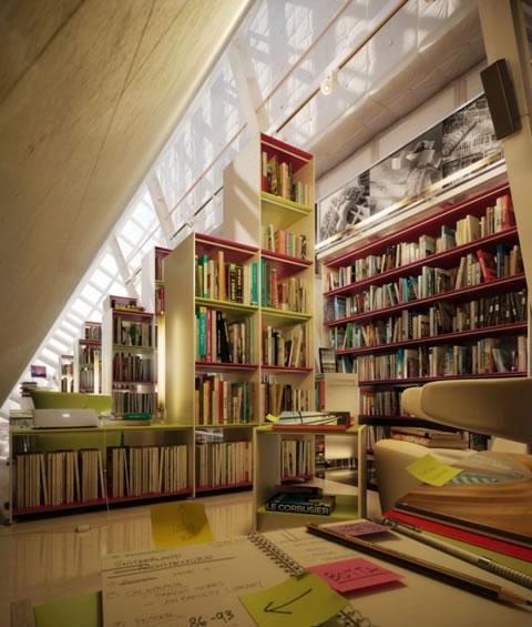 Bibliotecas con una decoraci n muy moderna for Creative interior designer ahmedabad