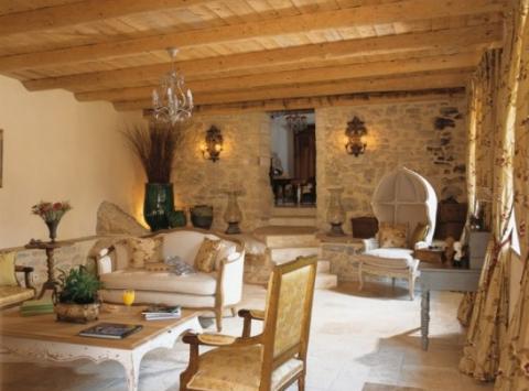 Una casa estilo cottage - Decoracion salon rustico ...