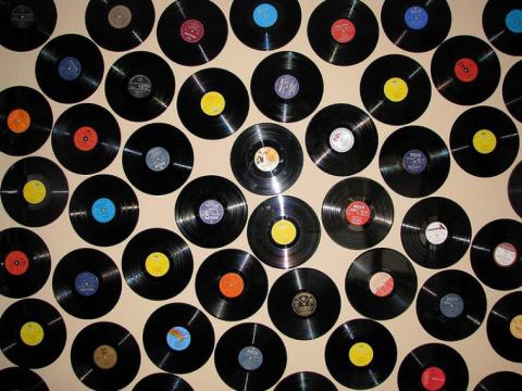 Una inspiraci n a os 60 vinilos - Discos vinilos decorativos ...