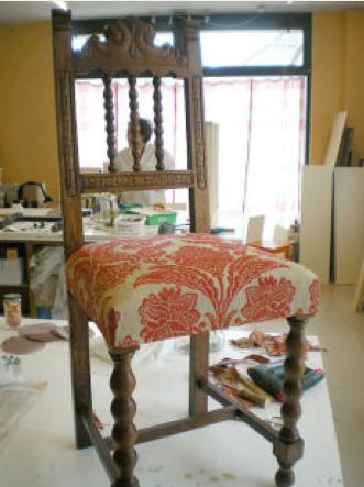 Como tapizar una silla - Tela para tapizar sillas de comedor ...