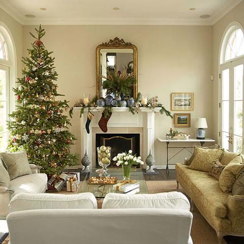 Cl sicas y modernas decoraciones de navidad - Deco gezellige lounge ...