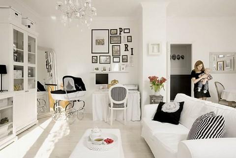 Blanco y negro en la decoraci n - Decoracion salon blanco y negro ...