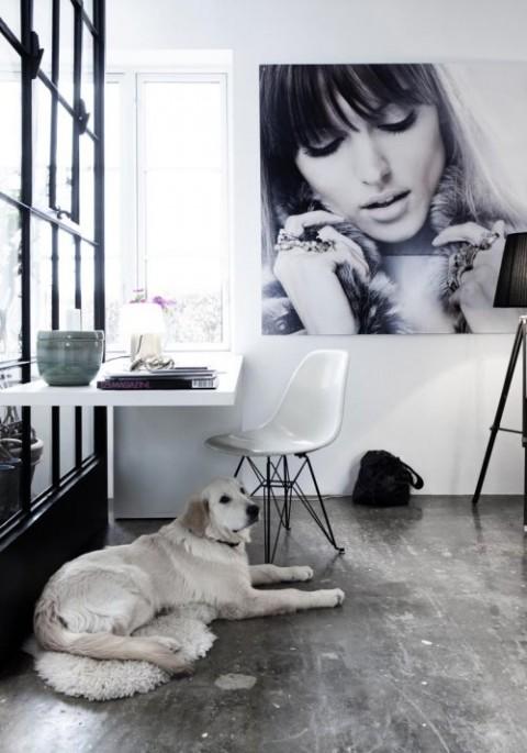 Habitación blanca y moderna