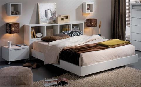 Cabeceros estanter a para tu habitaci n - Cabeceros cama caseros ...