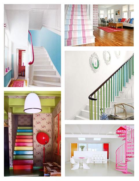 Escaleras de colores